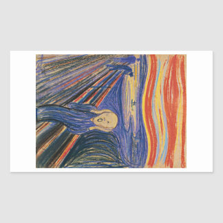 The Scream (pastel 1895) High Quality Rectangular Sticker