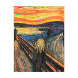 The Scream -  Stretched Canvas Reproduction Canvas Print