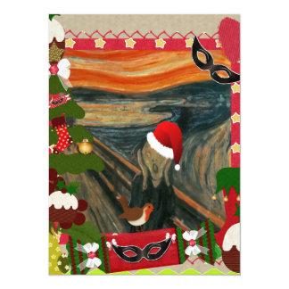 the scream ugly christmas 14 cm x 19 cm invitation card