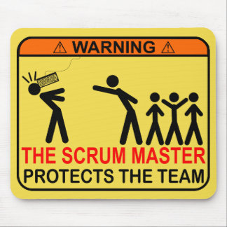 The Scrum Master Protects The Team Mouse Mat
