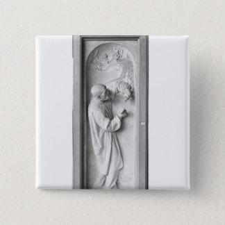 The Sculptor, 1896 15 Cm Square Badge