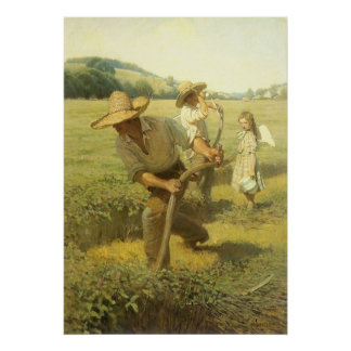 The Scythers Back to the Farm by NC Wyeth Posters