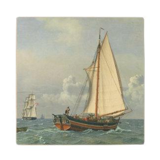 The Sea, 1831 Maple Wood Coaster