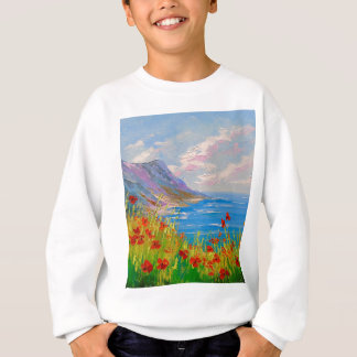 The sea and poppies sweatshirt