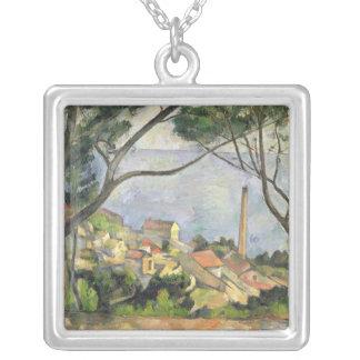 The Sea at l'Estaque, 1878 Silver Plated Necklace