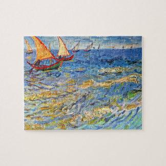 The sea at Saintes-Maries by Van Gogh Jigsaw Puzzle