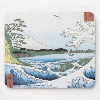 The Sea At Satta, Hiroshige, 1858 Mousepad