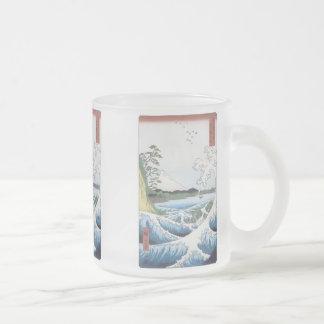 The Sea At Satta, Hiroshige, 1858, Mugs, Steins Frosted Glass Mug