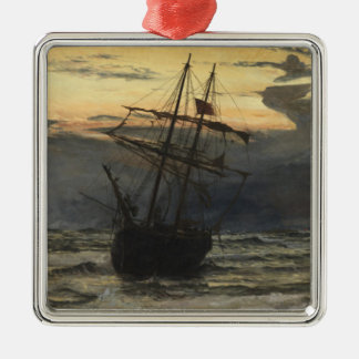 The Sea-Beach after a Storm  Time, Dawn Christmas Ornament