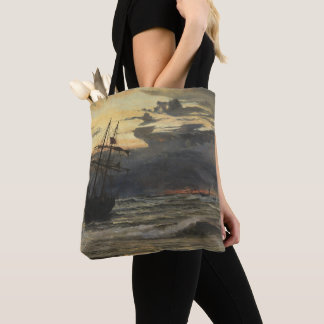 The Sea-Beach after a Storm  Time, Dawn Tote Bag