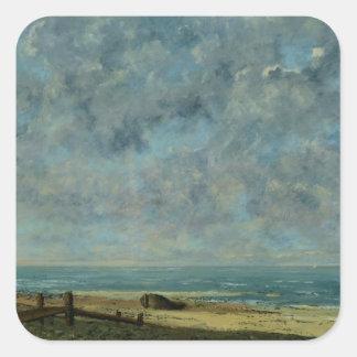 The Sea, c.1872 Square Sticker