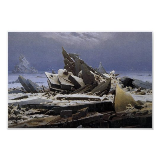 The Sea of Ice by Caspar David Friedrich Poster