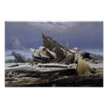 The Sea of Ice by Caspar David Friedrich Posters