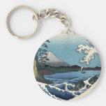 The Sea off Satta in Suruga Province, Hiroshige Key Chain