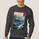 The Sea off Satta in Suruga Province, Hiroshige Sweatshirt