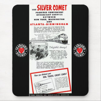 The Seaboard RailRoad Silver Comet Train Mouse Mat