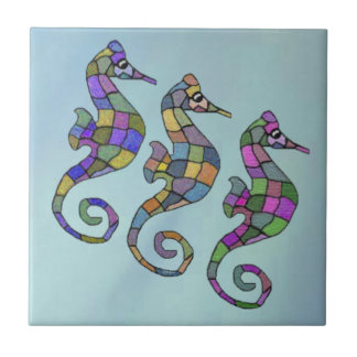 The Seahorse Rainbow Ceramic Tile