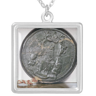 The seal of King Charles II Silver Plated Necklace