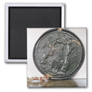 The seal of King Charles II Square Magnet