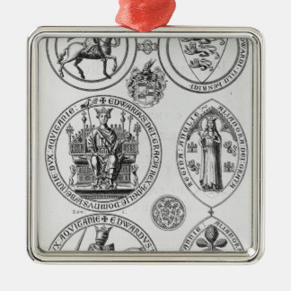 The Seals of Edward I Christmas Ornament