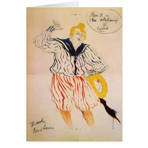 The seamen song by Toulouse-Lautrec Greeting Card