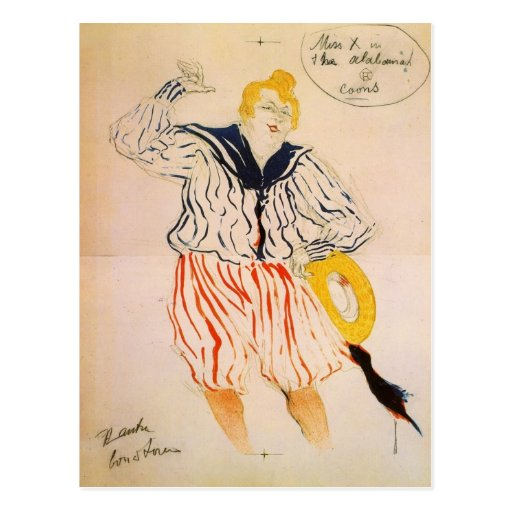 The seamen song by Toulouse-Lautrec Post Card