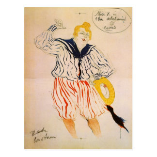 The seamen song by Toulouse-Lautrec Postcard
