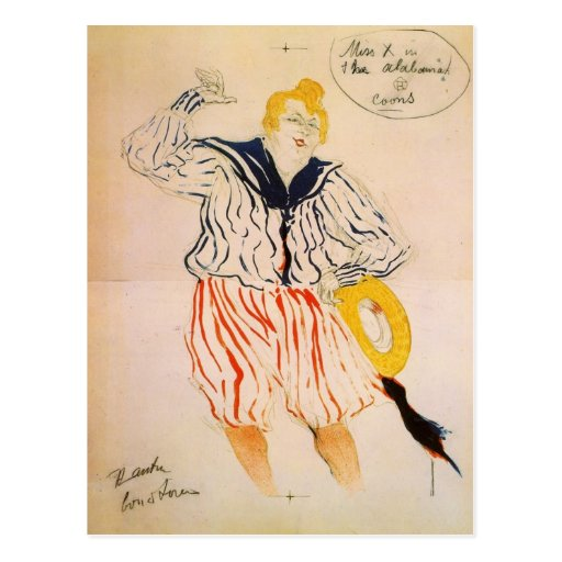 The seamen song by Toulouse-Lautrec Post Cards