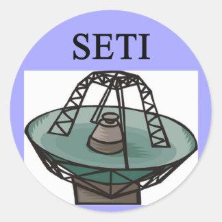 the search for extrterrestrial intelligence: seti round sticker