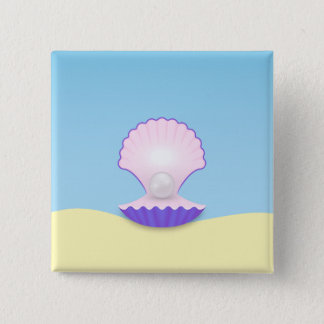 The Seashell 15 Cm Square Badge