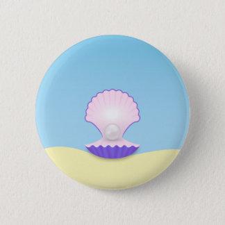 The Seashell 6 Cm Round Badge