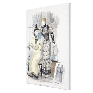 The Season, fashion plate for 'The Queen', Septemb Canvas Print