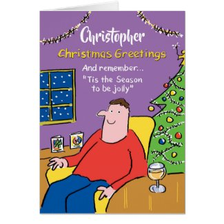 The Season to be Jolly Personalised Christmas Card