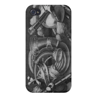 The Seasons' tapestry, border, music instruments Cover For iPhone 4