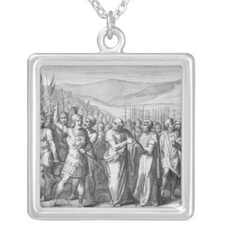 The Secession of the People to the Mons Sacer Silver Plated Necklace