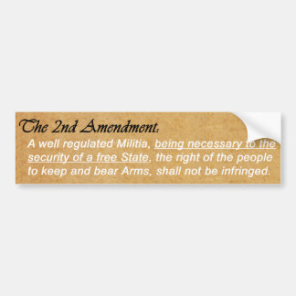 The Second Amendment Bumper Sticker