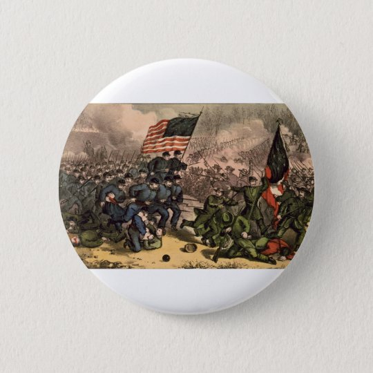 The Second Battle of Bull Run American Civil War 6 Cm Round Badge