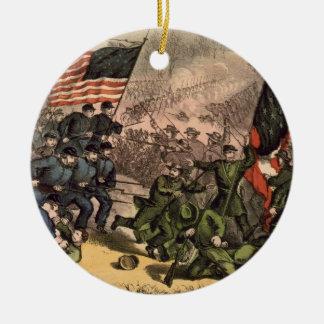 The Second Battle of Bull Run American Civil War Round Ceramic Decoration