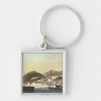 The Second Battle of Shimonoseki Silver-Colored Square Key Ring