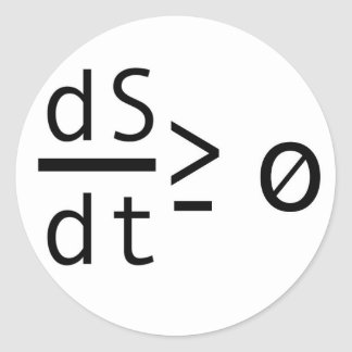 The Second Law of Thermodynamics Round Sticker