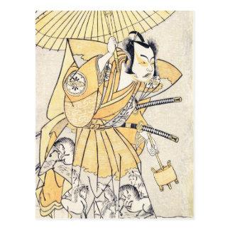 The Second Nakamura Juzo as a Samurai of High Rank Postcards