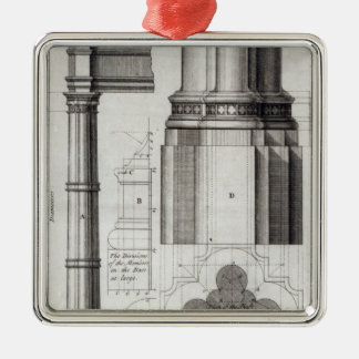 The Second Order of Gothic Architecture, 1741 Christmas Ornament