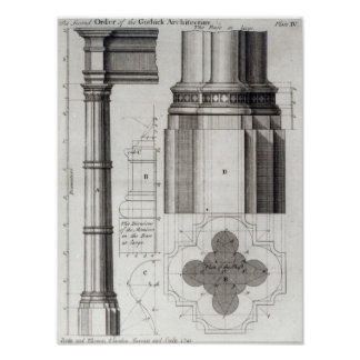 The Second Order of Gothic Architecture, 1741 Poster