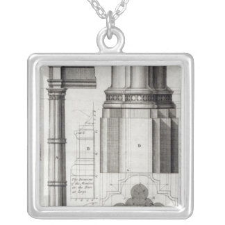 The Second Order of Gothic Architecture, 1741 Silver Plated Necklace