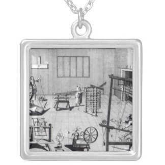The Second Plate of the Woollen Manufacture Silver Plated Necklace