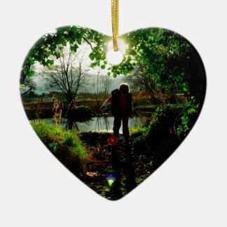 The secret boathouse ceramic heart decoration