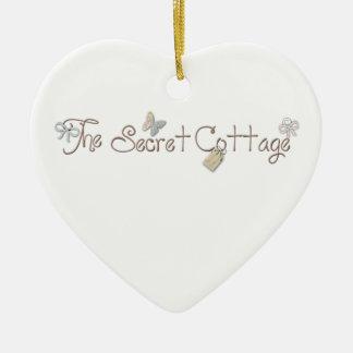The Secret Cottage Heart Ceramic Heart Decoration
