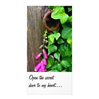THE SECRET DOOR, PERSONALIZED PHOTO CARD