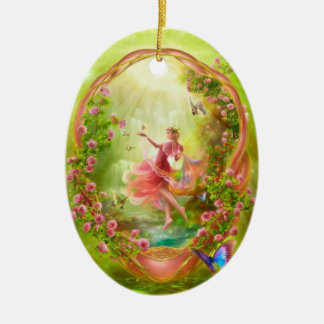 The Secret Garden Ceramic Oval Decoration