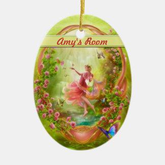 The Secret Garden Door hanger / Room Ceramic Oval Decoration